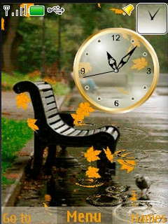 Rainy & Autumn Nature Clock S40 Theme Mobile Theme