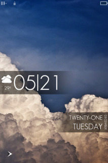 Clouds LockScreen Clock IPhone Theme Mobile Theme