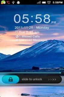 Locker Blue Mountain Android Theme Mobile Theme