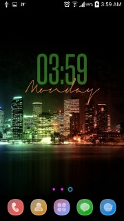 City Lights Night Clock Android Theme Mobile Theme