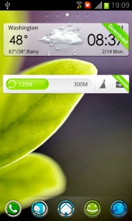 Fresh Leafs & Weather Android Theme Mobile Theme