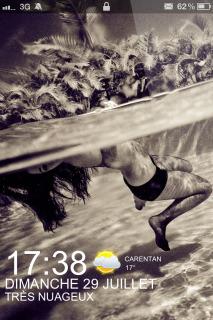 Swim Girl & Paradise Lockscreen IPhone Theme Mobile Theme