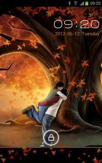 Autumn Love Locked Android Theme Mobile Theme