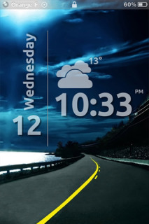 Night Road Clock IPhone Theme Mobile Theme