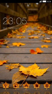 Autumn Leaves Nature Android Theme Mobile Theme