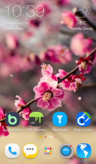 Pink Flower Live Android Theme Mobile Theme