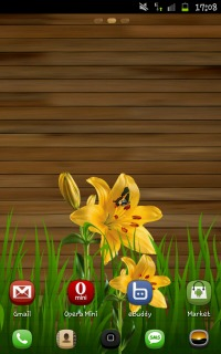 Yellow Flower Nature Android Theme Mobile Theme