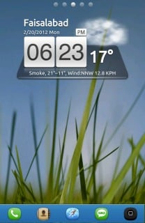 Grass & Evening Android Theme Mobile Theme
