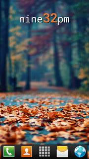 Fallen Leaves Autumn Android Theme Mobile Theme