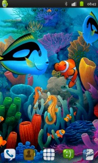 Aquarium Colors Fish Android Theme Mobile Theme