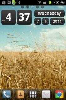 Golden Wheat Field Android Theme Mobile Theme