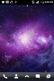 Space Purple Cute Android Theme Mobile Theme