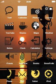 Sunset Orange & Sea IPhone Theme Mobile Theme
