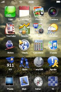 Night Wild Field IPhone Theme Mobile Theme