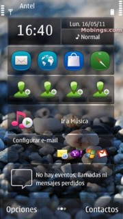Sea Stone Nature S60v5 Theme Mobile Theme