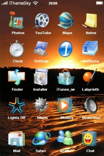 Sunset Of Sea Nature IPhone Theme Mobile Theme