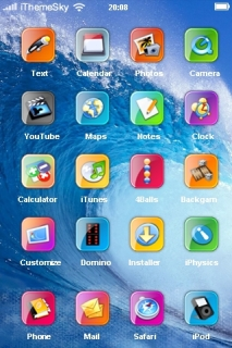 Blue Clear Waves Free IPhone Theme Mobile Theme