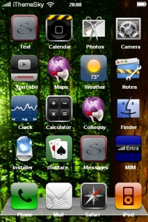 Forest Trees Nature IPhone Theme Mobile Theme