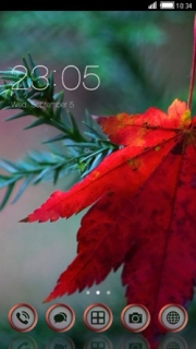 Red Leaf Nature Free Android Theme Mobile Theme