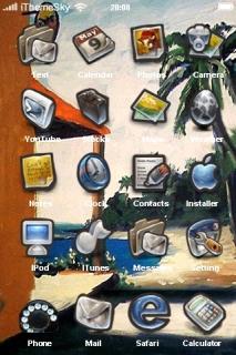 Resort Beach Nature IPhone Theme Mobile Theme