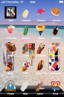 Summer Beach Desert IPhone Theme Mobile Theme