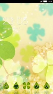 Lovely Colors Clover Android Theme Mobile Theme