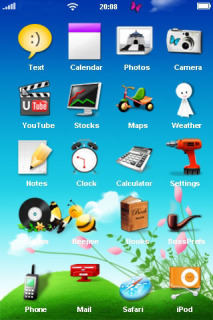 Blooming Nature Sky Phone Theme Mobile Theme