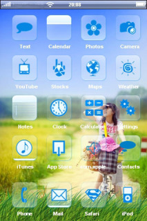 Summer Happy Girl In Field IPhone Theme Mobile Theme