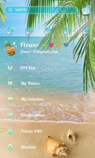 Beach Summer Free Android Theme Mobile Theme