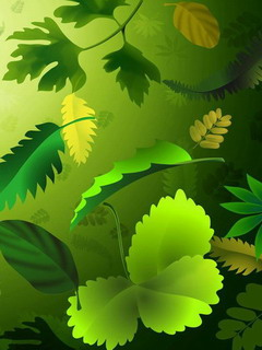 Green Leaves Mobile Theme