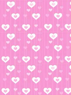 Pink Hearts Mobile Theme