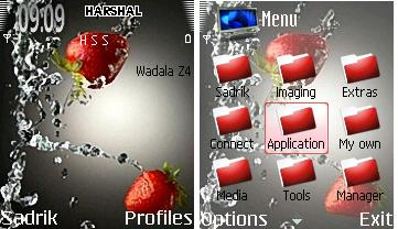 Strawberry Mobile Theme