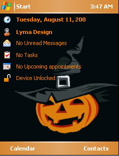 Halloween Hat Mobile Theme