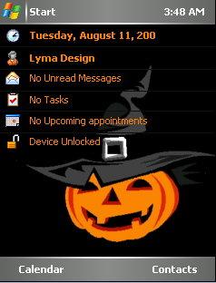 Halloween Hat Gray Mobile Theme