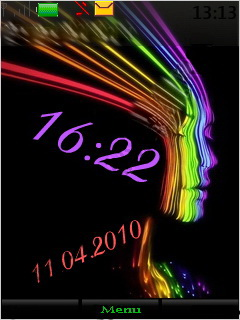 Face Clock Mobile Theme