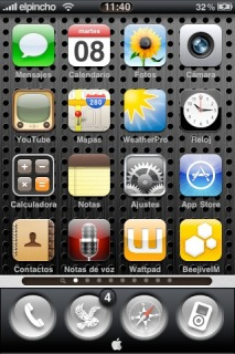 Orbes Hundidos IPhone Theme Mobile Theme