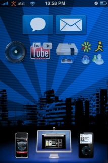 Blue IPhone Theme Mobile Theme