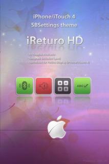 IReturo HD SB Settings Mobile Theme