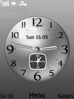 Platinum Clock Mobile Theme