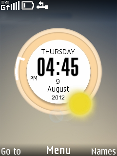 Zen Clock Mobile Theme