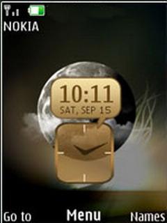 Dark Close Live Clock Mobile Theme