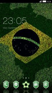Brazil Flag Android Theme Mobile Theme