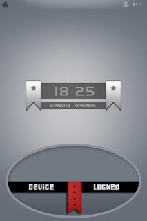 Device Locked Time IPhone Theme Mobile Theme