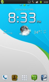 Elegance Blue Free Android Theme Mobile Theme