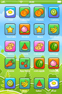 Fruits Icons Field For IPhone Theme Mobile Theme