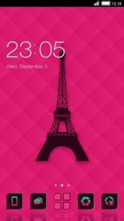 Eiffel Paris Tower Free Android Theme Mobile Theme