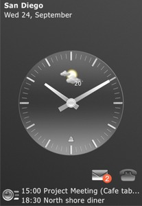 Xperia Clock Mobile Theme