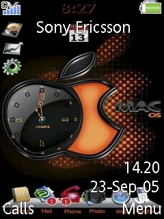 Apple Clock Mobile Theme