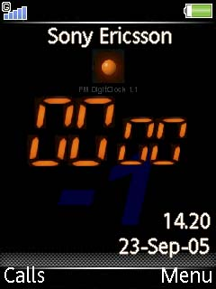 Swf Digital Clock Mobile Theme