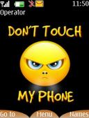 Dont Touch My Phone Mobile Theme